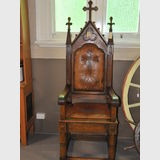 Throne Chair | Period: c1865 | Material: Oak | Bishop's Chair from Melbourne Anglican Church.