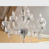 Chandelier 8 Arm | Period: c1970s | Material: Crystal