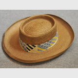 Men's Sun Hat | Period: c1980s | Make: Akubra | Material: Polyester straw