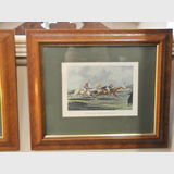 Set Hunting Scene Prints | Period: c1930s | Material: Walnut frames