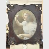 Pair Framed Prints | Period: Victorian c1900 | Material: English Oak frames