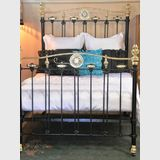 Double Ended Double Bed | Period: c1910 | Material: Brass, iron & porcelain