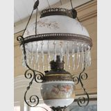 Hanging Light | Period: Victorian c1890 | Make: Miller | Material: Brass frame