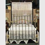 Queen Brass & Iron Bed | Period: Edwardian c1905 | Material: Brass, Iron & Porcelain