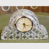 Bedside Clock | Period: Retro c1950s | Make: Unicorn | Material: Crystal