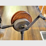 Geared Drive on Stand | Period: c1920s | Make: Stewart Clipper, Chicago | Material: Steel and cast iron.