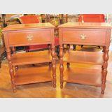 Pair Cedar Bedside Tables   Period: c1960s   Material: Cedar