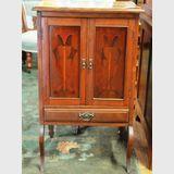 Inlaid Cabinet | Period: Victorian c1890 Art Nouveau | Material: Walnut