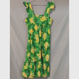 Sundress | Period: c1970s | Make: Handmade | Material: Green Cotton