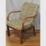 Parker- Knoll Armchair | Period: Retro c1950s | Make: Parker-Knoll | Material: Timber frame with fabric upholstry