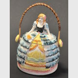 Crinoline Lady Biscuit Barrel | Period: c1950s | Material: Ceramic