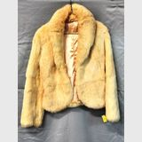 Fur Jacket | Period: 1970s | Material: Cream Rabbit Fur