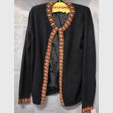 Beaded Cardigan | Period: c1960s | Make: D.G. | Material: Black lambswool & angora blend