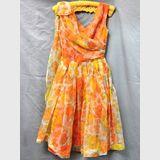 Party Dress   Period: c1950s   Make: Handmade   Material: Nylon overlay with satin petticoat