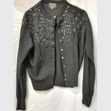 Beaded Cardigan | Period: c1950s | Material: 100% Lambswool with Cashmere finish