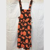 Bib Dress | Period: c1970s | Make: Mike West | Material: Cotton Velveteen