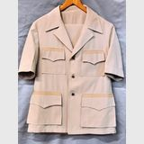 Safari Suit | Period: c1970s | Make: Diarbo | Material: Bone Polyester