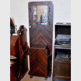 Hallstand | Period: Retro c1950s | Material: Walnut veneer.