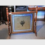 Cedar Fire Screen | Period: Edwardian c1910 | Material: Cedar frame, mirror screen