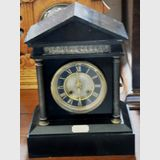 Mantle Clock | Period: c1885 | Material: Black marble