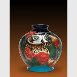 Moorcroft BooBook Owl vase | Period: 2015 Australian Exclusive design | Make: Moorcroft | Material: Pottery | BooBook Owl view two