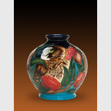 Moorcroft BooBook Owl vase | Period: 2015 Australian Exclusive design | Make: Moorcroft | Material: Pottery | BooBook Owl third view