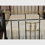 Brass, Iron & Porcelain Bed | Period: Edwardian c1910s | Material: Brass, iron & porcelain