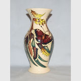 Moorcroft Butterfly vase | Period: Contemporary | Make: Moorcroft | Material: Pottery | Moorcroft Butterfly Collection vase Shape 226/7