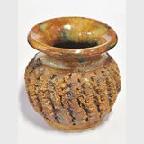 Bark Pottery Vase | Period: c1980 | Make: Bill Reid Blind Potter | Material: Pottery