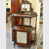 Side Cabinet | Period: Victorian c1890 | Material: Inlaid Burr Walnut