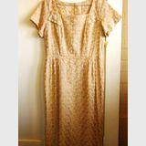 Cocktail dress | Period: 1960s | Make: Pilgnacio | Material: Cotton brocade