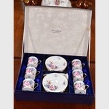 Cased Aynsley Cups and Saucers | Period: c1970s | Make: Aynsley | Material: Porcelain