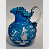 Mary Gregory Jug | Period: Victorian c1880 | Material: Glass