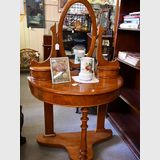 Biedermeier Style Dressing Table | Period: Victorian c1900 | Material: Possibly birdseye elm