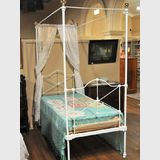 Single 4 Poster Bed | Period: Victorian | Material: Cast iron