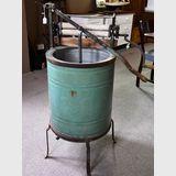 Manual Washing Machine | Period: c1920 | Make: E. Lehman | Material: Galvanised iror and steel