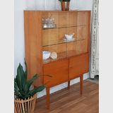 Display Cabinet | Period: c1960s | Material: Timber & glass | German Display Cabinet Mid-century.