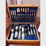 Cutlery Set in Canteen | Period: 1960s | Make: Oneida Community | Material: Silver Plate