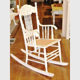 Colonial Rocking Chair | Period: c1910 | Material: White painted timber with cane seat