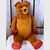 Glass Eye Teddy Bear | Period: c1940s | Material: Plush-straw filled
