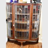 China Cabinet/ Display Case | Period: c1950s | Material: Leadlight Glass & Timber