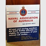 Sign- Naval Association | Period: 1950s | Material: Metal