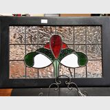 Leadlight Window panel | Period: Modern | Material: Leadlight glass in timber frame