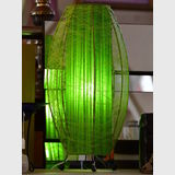 Retro Lamp | Period: Retro c1970s | Material: Green fabric