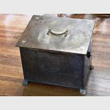 Brass Wood Box | Period: c 1920s | Material: Brass case, timber interior