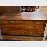 Large Oriental Travelling Trunk | Period: c1880 | Material: Elm