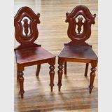 Pair Cedar Hall Chairs | Period: Victorian 1870-80 | Material: Cedar