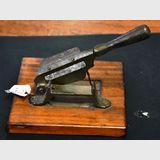 Tobacco Cutter | Period: c1920s | Material: Steel- timber base