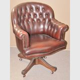 Office Chair | Period: Vintage | Material: Timber and leather