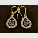 Sapphire & Diamond Earrings | Period: New | Material: 18ct. Gold, sapphires and  diamonds.